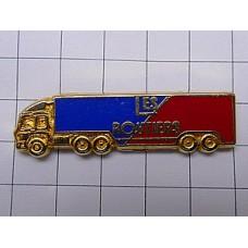 ピンバッジ・金色の大型トラック車