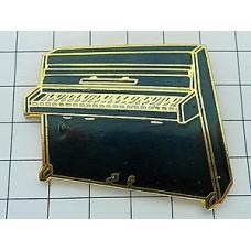 ピンズ・黒いアップライトピアノ楽器