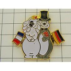 ピンズ・結婚フランスとドイツ国旗