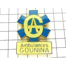 ピンバッジ・救急車の青いマーク