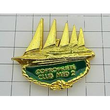 ピンバッジ・地中海クラブ金色の帆船