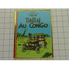 ピンズ・タンタン漫画表紙『タンタンのコンゴ探険』