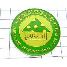 ピンバッジ・水玉三角と丸あまいもの台北台湾