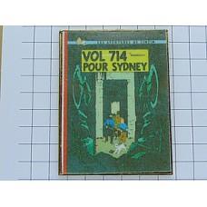 ピンズ・タンタン漫画『シドニー行き714便』本の表紙