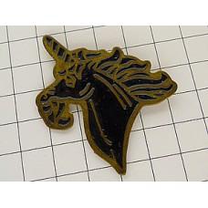 ピンズ・一角獣ユニコーン黒い馬