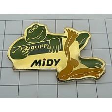 ピンズ・緑色のカエル蛙