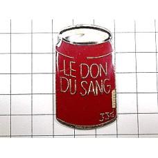 ピンズ・献血入りの赤い缶