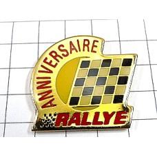 ピンズ・ラリー車チェッカーフラッグ旗