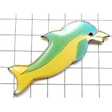 ピンズ・水色のイルカ海豚