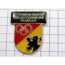 ピンバッジ・フランス収集家の連帯ライオンの紋章