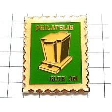 ピンバッジ・スリーエム3M切手愛好家アメリカ切手型/USA