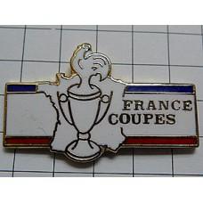 ピンズ・鶏ニワトリ優勝杯フランス地図トリコロール