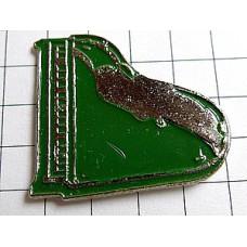 ピンズ・緑のグランドピアノ音楽楽器