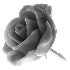 ピンズ・New!ばらローズ薔薇バラの花グレー銀色の針