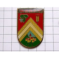 ピンバッジ・小麦の穂ブドウの房の紋章