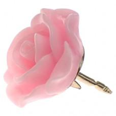 ピンズ・New!ピンクのローズ薔薇バラの花ピンクばら金色の針