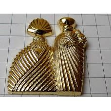 ピンズ・金色ウンガロ香水壜