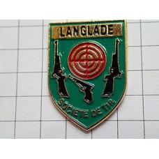 ピンバッジ・銃ピストル的の紋章